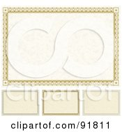 Royalty Free RF Clipart Illustration Of A Digital Collage Of Certificate Borders 3 by BestVector