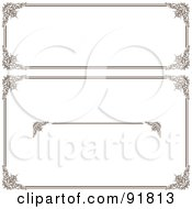 Royalty Free RF Clipart Illustration Of A Digital Collage Of Certificate Borders 14 by BestVector