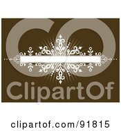 Royalty Free RF Clipart Illustration Of A White Burst Banner Over Brown