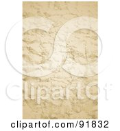 Royalty Free RF Clipart Illustration Of A Wrinkled And Distressed Parchment Paper Background by BestVector