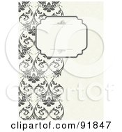 Royalty Free RF Clipart Illustration Of A Blank Text Box Over A Left Border Of Vines by BestVector