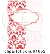 Royalty Free RF Clipart Illustration Of A Blank Text Box Over A Left Border Of Red Vines by BestVector