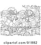 Black And White Snow White Coloring Page Outline - 2