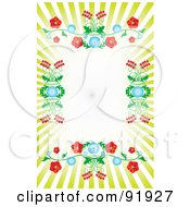 Royalty Free RF Clipart Illustration Of A Floral Burst Background With Text Space 2 by tdoes