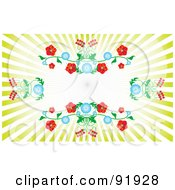 Royalty Free RF Clipart Illustration Of A Floral Burst Background With Text Space 1 by tdoes