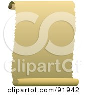 Royalty Free RF Clipart Illustration Of A Blank Parchment Scroll Paper With Ripped Edges