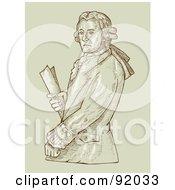 An Aristocrat Man Holding A Document