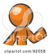 Royalty Free RF Clipart Illustration Of An Orange Woman Avatar Waving by Leo Blanchette