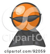 Royalty Free RF Clipart Illustration Of An Orange Man Avatar Spy Wearing Shades
