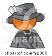 Royalty Free RF Clipart Illustration Of An Orange Man Avatar Dressed For A Night On The Town by Leo Blanchette