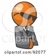 Royalty Free RF Clipart Illustration Of An Orange Man Businessman Avatar Wearing Shades by Leo Blanchette