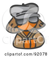 Royalty Free RF Clipart Illustration Of An Orange Woman Avatar Incognito by Leo Blanchette