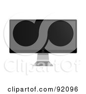 Royalty Free RF Clipart Illustration Of A Modern Flatscreen Television On A Silver Stand by oboy