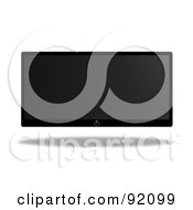 Royalty Free RF Clipart Illustration Of A Modern Floating Flatscreen Television by oboy