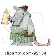 Oktoberfest Rat Holding Up A Beer Stein