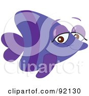 Adorable Purple Tropical Fish