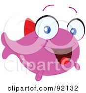Royalty Free RF Clipart Illustration Of An Adorable Pink Tropical Fish