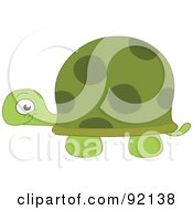 Royalty Free RF Clipart Illustration Of An Adorable Grinning Green Tortoise by yayayoyo