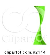 Royalty Free RF Clipart Illustration Of A Background Of A Green Swoosh Over White