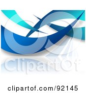 Royalty Free RF Clipart Illustration Of A Background Of Gradient Blue Swooshes