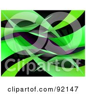 Royalty Free RF Clipart Illustration Of A Background Of Reflective Green Swooshes