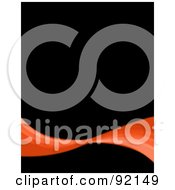 Royalty Free RF Clipart Illustration Of A Background Of An Orange Swoosh Over Black