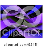 Royalty Free RF Clipart Illustration Of A Background Of Blue And Purple Swooshes On Black