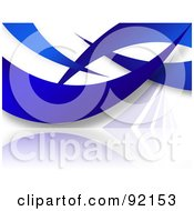 Royalty Free RF Clipart Illustration Of A Background Of Blue Swooshes On White