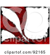 Royalty Free RF Clipart Illustration Of A Background Of Grungy Red Swooshes Over White
