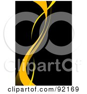 Royalty Free RF Clipart Illustration Of A Background Of Vertical Yellow Swooshes Over Black