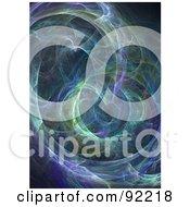 Royalty Free RF Clipart Illustration Of A Fractal Design Background 36