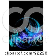 Royalty Free RF Clipart Illustration Of A Fractal Design Background 46