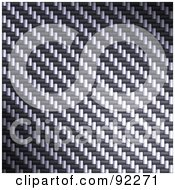 Royalty Free RF Clipart Illustration Of A Carbon Fiber Background Texture 7 by Arena Creative