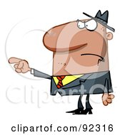 Royalty Free RF Clipart Illustration Of A Man Pointing The Blame