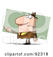 Royalty Free RF Clipart Illustration Of A Caucasian Guy Pointing The Blame