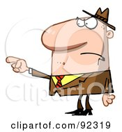 Royalty Free RF Clipart Illustration Of A Caucasian Man Pointing The Blame