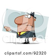Royalty Free RF Clipart Illustration Of A Guy Pointing The Blame by Hit Toon