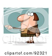 Royalty Free RF Clipart Illustration Of A Mad Business Woman Pointing The Blame