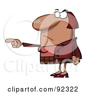 Royalty Free RF Clipart Illustration Of A Mad Lady Pointing The Blame