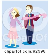 Royalty Free RF Clipart Illustration Of A Couple Standing By Each Other by Cherie Reve