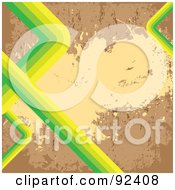 Royalty Free RF Clipart Illustration Of A Grungy Cork Background With Green And Yellow Lines