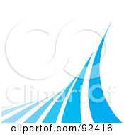 Royalty Free RF Clipart Illustration Of Blue Curves Over White by Arena Creative