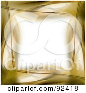 Royalty Free RF Clipart Illustration Of A Border Of Gold Over White by Arena Creative