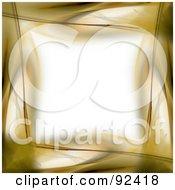 Border Of Gold Over White