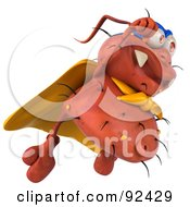 Royalty Free RF Clipart Illustration Of A 3d Rodney Germ Character Super Hero 3