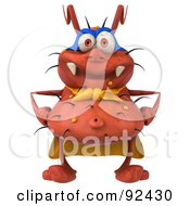 Royalty Free RF Clipart Illustration Of A 3d Rodney Germ Character Super Hero 1