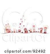 Royalty Free RF Clipart Illustration Of A Road Leading To A Heart Village