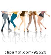 Royalty Free RF Clipart Illustration Of Legs Of Dancing Adults by BNP Design Studio