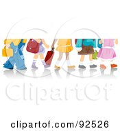 Royalty Free RF Clipart Illustration Of Legs Of School Children by BNP Design Studio