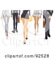 Royalty Free RF Clipart Illustration Of Legs Of A Business Team Walking Forward